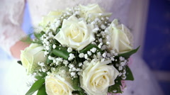 The bride's bouquet. Clouse up. Stock Footage