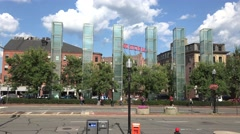 The New England Holocaust Memorial, Boston, MA. Stock Footage