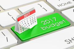 2017 budget concept, 3D rendering Piirros