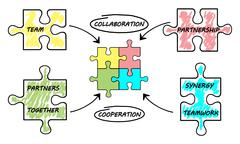 Partnership concept on white background Stock Illustration