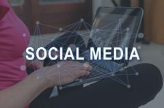 Concept of social media Kuvituskuvat