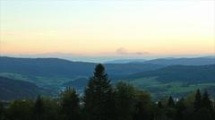Polish Mountains Timelapse Stock Footage