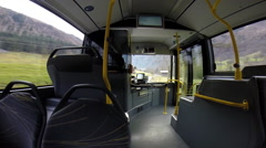 POV of Shuttle bus on its way to the ski resort , time-lapse. Stock Footage