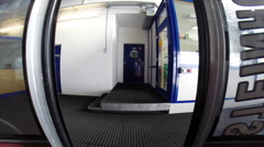 Doors closing on gondola lift. Stock Footage