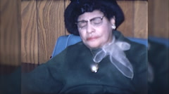 Old Elderly African American Woman 1960s Vintage Film Home Movie 10165 Stock Footage