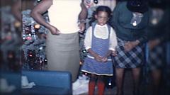 African American Black Women Christmas Tree 1970s Vintage Film Home Movie 10160 Stock Footage