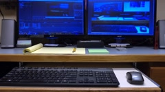Video Editing Workstation - Vertical Slider Stock Footage