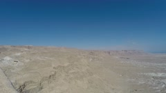 View of Jordan Rift Valley from Masada, Israel Stock Footage