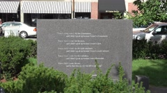 """First They Came..."" poem on the New England Holocaust Memorial, Boston. Arkistovideo"