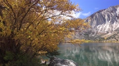 Convict Lake, Sierra Nevada, lake reflections Stock Footage