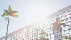 Tennis player woman hitting ball winning cheering celebrating victory Stock Footage