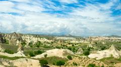 Timelapse with amazing landscape of Cappadocia, Turkey Stock Footage