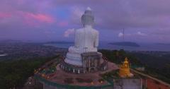 Sweet sky around big Buddha  Stock Footage