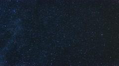 Stars Rotating North Pole Star. Night Sky Polaris. 4K Time Lapse. Stock Footage