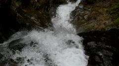 River water crashing into rocks. Stock Footage