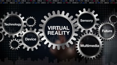 Gear with Technology, Device, Sensory, Future, Multimedia, 'VIRTUAL REALITY' Stock Footage