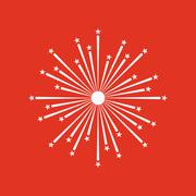 Firework icon. Holiday symbol. Flat Piirros