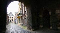 An alley corridor in a small European town. Stock Footage