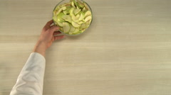 Apple cutting for baking. Stock Footage