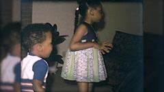 African American Black Children Dance Dancing 60s Vintage Film Home Movie 10106 Stock Footage