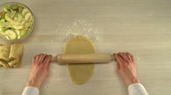 Manual dough cutting. Stock Footage