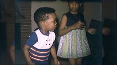 Cute Little Black Boy African American Dancing 60s Vintage Film Home Movie 10105 Stock Footage