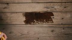 Designer painting timber Stock Footage