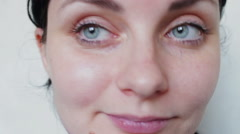 Close-up shot of woman eyes Stock Footage