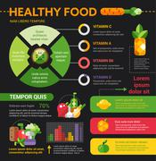 Healthy Food - poster, brochure cover template Stock Illustration