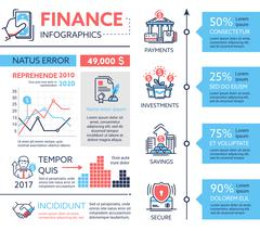 Finance - poster, brochure cover template Stock Illustration