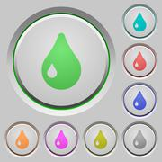 Drop push buttons Stock Illustration