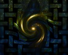 Abstract cosmic background. streaming of galactic energy awakening to life and Stock Illustration