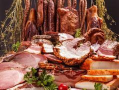 Still life of cold cuts Stock Photos