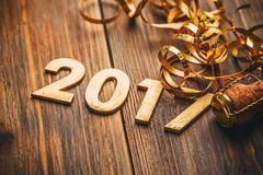 Happy New Year 2017 Stock Photos
