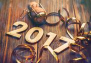 Wooden number of 2017 Stock Photos