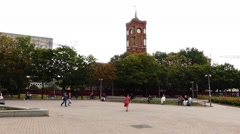 Rotes Rathaus is town hall of Berlin, Germany Stock Footage