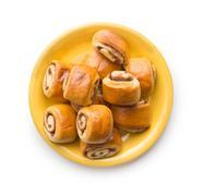 Mini cinnamon buns. Stock Photos