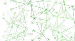 Connected Objects, Information Exchange Animation - Loop Green Stock Footage