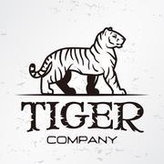 Tiger logo emblem template. Brand mascot symbol for business or shirt. Vector Piirros