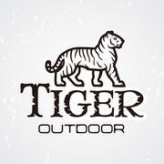 Tiger logo vector. Mascot design template. Shop or product illustration Stock Illustration