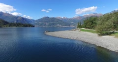 Como Lake - Colico Stock Footage