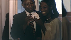 African American Wedding Cutting Cake 1960s Vintage Film Home Movie 10082 Stock Footage