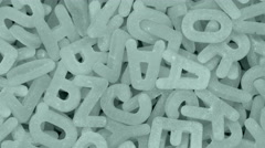 Alphabetic chaos by background.      Stock Footage