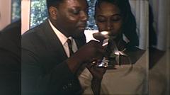 Happy African American Wedding Couple Bride 1960s Vintage Film Home Movie 10078 Stock Footage