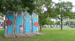 The wall in Berlin Stock Footage