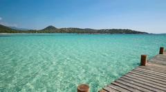 Santa Giulia beach, Corsica, France, Europe Stock Footage