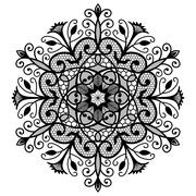 Lace Flower Ornament Forged Stock Illustration