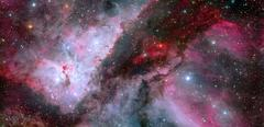The Carina Nebula with an earlier picture of the Eta Carinae. Stock Photos