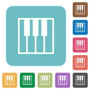 Flat piano keyboard icons Piirros