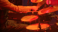 Drummer plays the drums Stock Footage